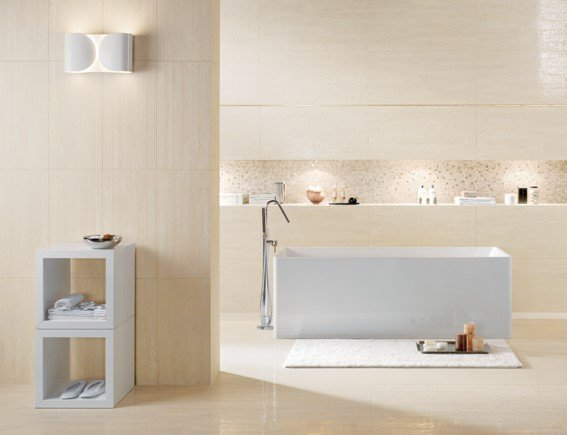 Piastrelle in gres porcellanato per bagno a Varese