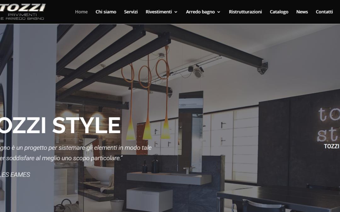 Arriva il nuovo sito web di Tozzi Style, showroom di arredo bagno e rivestimenti per la casa a Gallarate